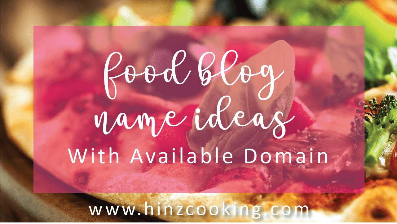 food blog name ideas