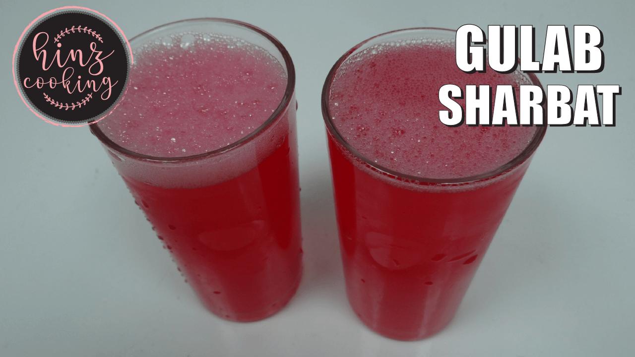 gulab sharbat recipe - rose lemonade
