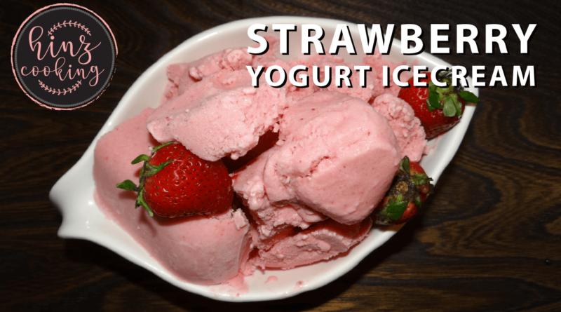 strawberry yogurt icecream