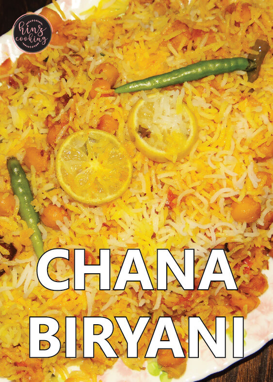 Chana Biryani Recipe Chole Biryani How To Make Chana Biryani