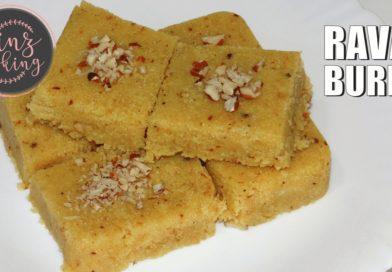 rava burfi recipe - suji ki burfi