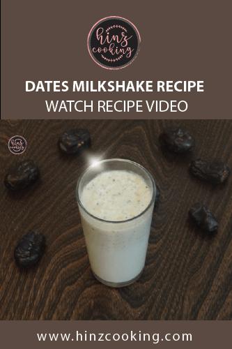 dates milkshake recipe - Khajoor milk