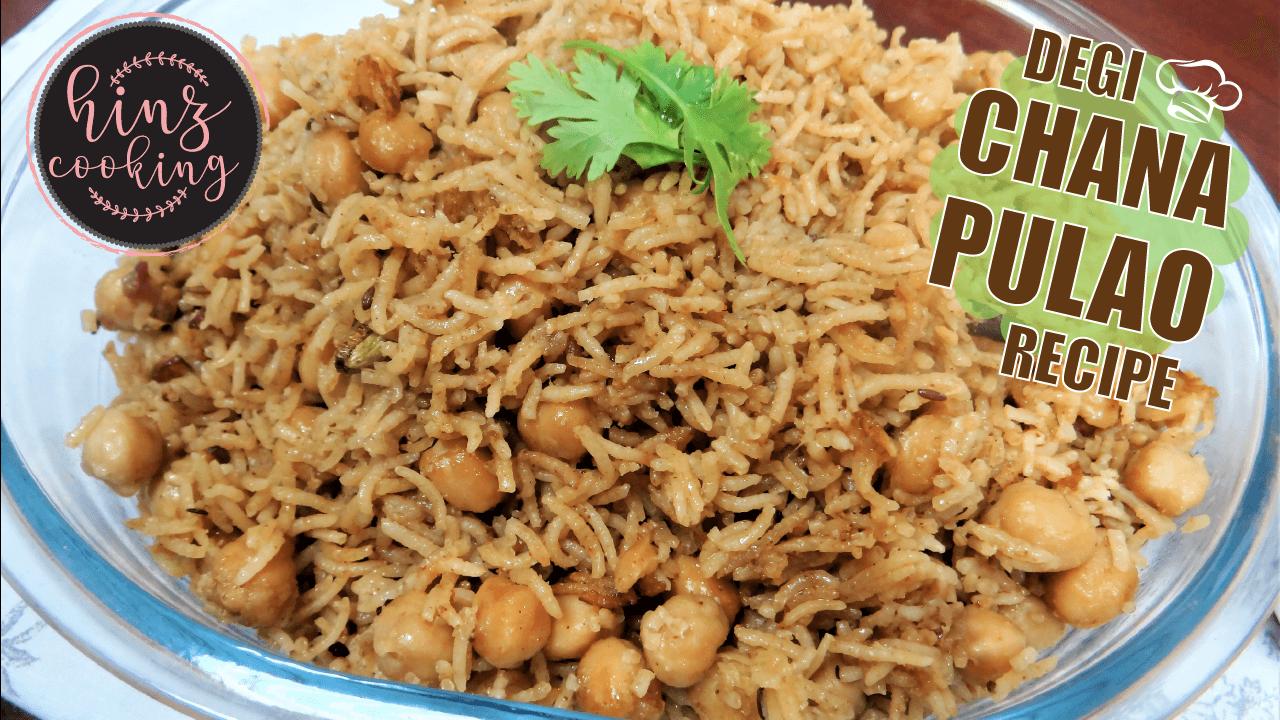 chana pulao recipe - chickpeas rice - kabuli channa rice