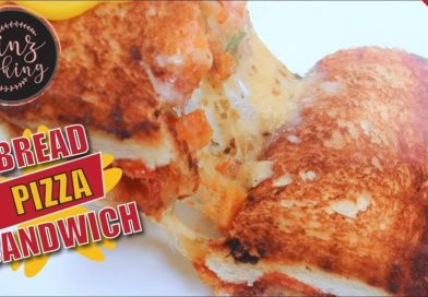 Bread Pizza Sandwich Recipe - How to Make Pizza Sandwich on Tawa