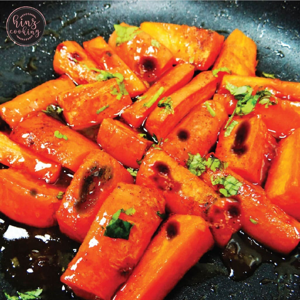 Honey Garlic Butter Roasted Carrots Recipe